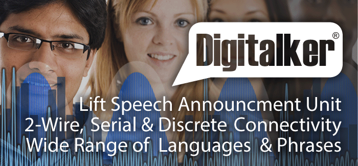Digitalker lift speech announcer