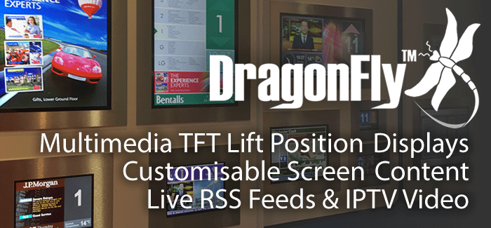 DragonFly Multimedia TFT Lift Position Displays Indicator